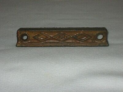 "Rim Lock Vintage Antique Door Hardware 4 1/4"" Ornate Keeper Part  Art Deco"