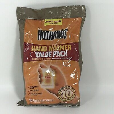 HotHands Hand Warmers Value Pack 10 Pairs Expires 2022 Winter Hunting Skiing