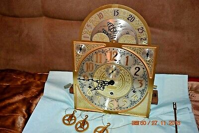 Ridgeway Grandfather clock movement with dial fully serviced Model 148
