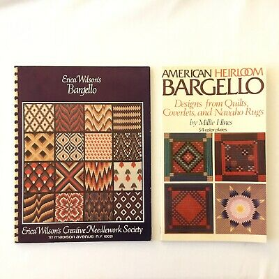 Vintage American Heirloom Bargello & Erica Wilsons LOT of 2 Design Pattern Books