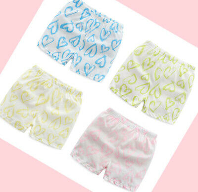 4 Pack Girls Boxer Shorts Briefs Cotton pants Underwear Knickers age 3-10 years