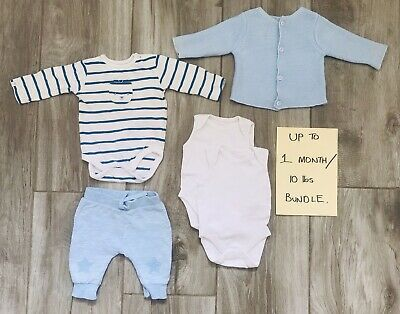 Baby Boy Clothes Bundle 0- 1 Months / 10lbs. Mothercare - Great Condition A*