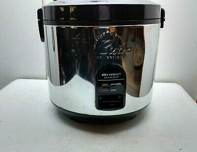Wolfgang Puck Elite 10 Cup Electric Rice Cooker Food Steamer Warmer - Silver