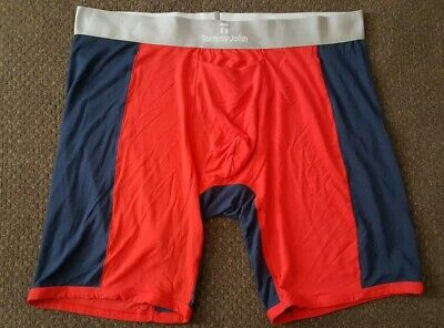 Tommy John Boxer Briefs soft second Skin Size 2XL Red/Navy Blue
