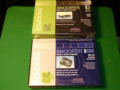 Snooper S3 neo GPS Location System SPEED CAMERA DETECTOR & S100 RLD Extension