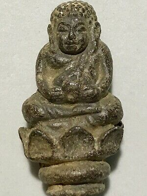 PHRA SANGKADJAY LP RARE OLD THAI BUDDHA AMULET PENDANT MAGIC ANCIENT IDOL#15