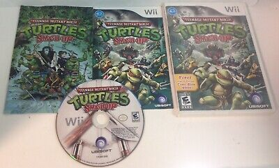 Teenage Mutant Ninja Turtles Smash-Up Nintendo Wii, 2009 Complete Manual + Comic