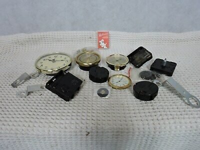 Large Lot Quartz Clock Clockmakers Parts New and Used