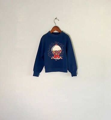 Vtg 80s Retro Blue Soft Thin Rainbow Gumball Machine Candy Sweatshirt Jerzees 5