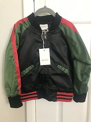 Size 3 - 4 Kids Authentic GUCCI Jacket Cheetah Back. Tried on RRP$895