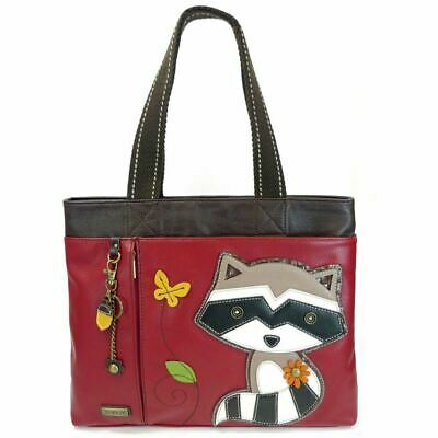 Raccoon - Big Tote - Red -Faux Leather
