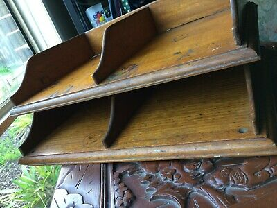 "Vintage ""DOUBLE"" Wooden Office In Trays - Dovetail Corners - @ MUST SEE @"