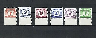 Rhodesia British Colonies Set Of Postage Due Mh Stamp Lot (Bricol 819)
