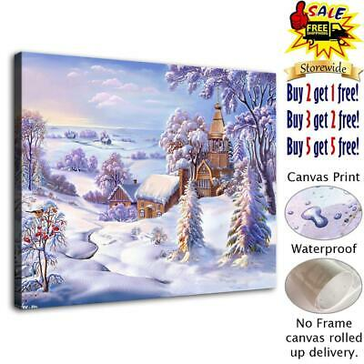 """Winter Again Home Decor Room HD Canvas Print Picture Wall Art Painting 12""""x16"""""""