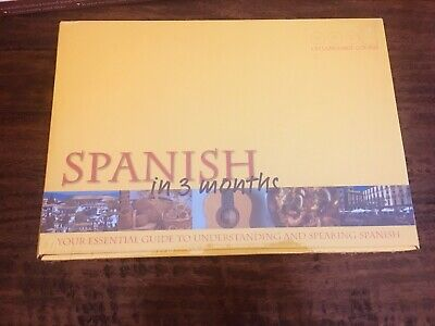 Learn Spanish In 3 Months Language Course 3 Audio CDs Plus Essential Guide Book