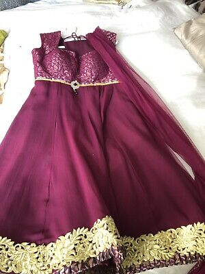Stunning Purple Designer Indian Outfit