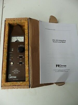 Cirrus Research Integrating Sound level Tester With Manual - Range  30 to 120dBA