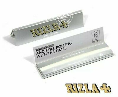 25 Booklets of Rizla Silver King Size Slim Cigarette Rolling Papers Half Box