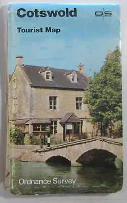 1983 old vintage OS Ordnance Survey one inch Tourist Map 8 Cotswold