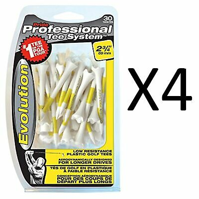 "Pride Professional System Evolution Performance 30 Golf Tees, 2 3/4"" (4-Pack)"