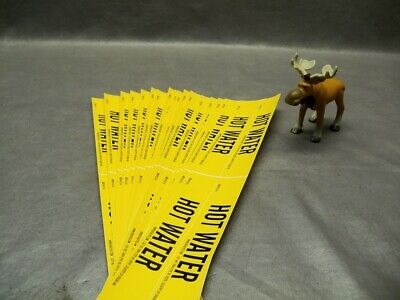 Bradley Hot Water Pipe Marker Card of 4 Lot of 18