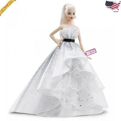 Barbie 60th Anniversary Doll, Blonde Hair and Diamond-Inspired Accents