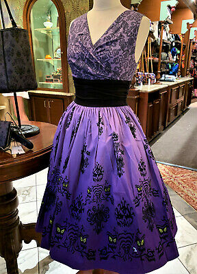 Disney Parks Haunted Mansion Wallpaper 50th Anniversary Dress Sizes Small