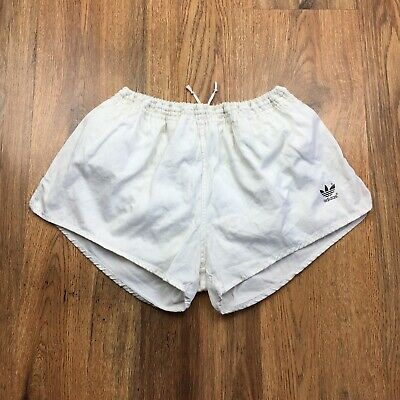 Vintage 80's Adidas Cotton Shorts Yugoslavia Gym Running Size Large D7 (S519)