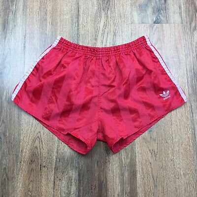 Vintage 80's Adidas Shiny Nylon Shorts Glanz West Germany Size Large D7 (S513)