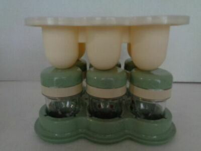 Baby Bullet Storage Jars With Tray And Freezer Cups With Lid