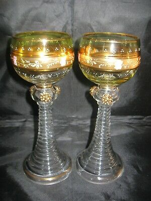 NEW IN BOX! Pair of MOSER Glasses Green & Amber by Neiman