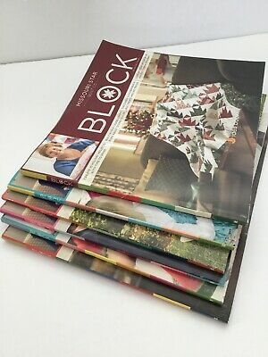 Lot Of 6 - Missouri Star Quilt Co- Block Magazine