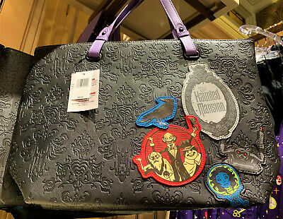 Disney Parks Loungefly Haunted Mansion 50th Anniversary Ghosts Purse Tote Bag