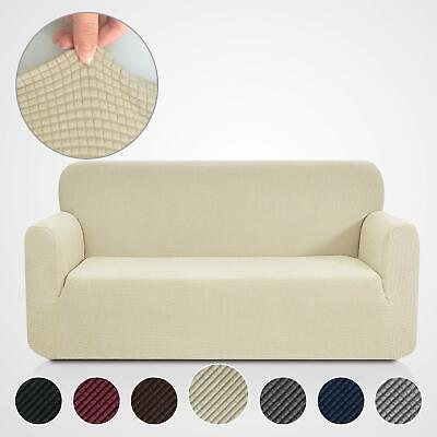 Corduroy Sofa Cover Universal Couch Cover Elastic Slipcovers Jacquard-Stretch