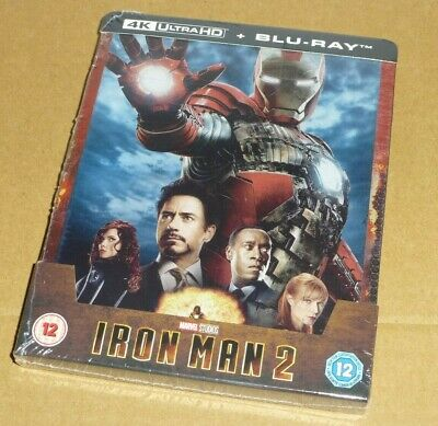IRON MAN 2 - 4K UHD + 2D Blu-ray, UK Exclusive STEELBOOK, Marvel, In Hand Now
