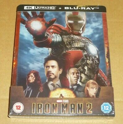IRON MAN 2 : 4K UHD + Blu-ray, UK STEELBOOK Limited Edition, Marvel, In Stock
