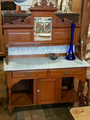 Marble Top Wash stand Antique Kauri Pine