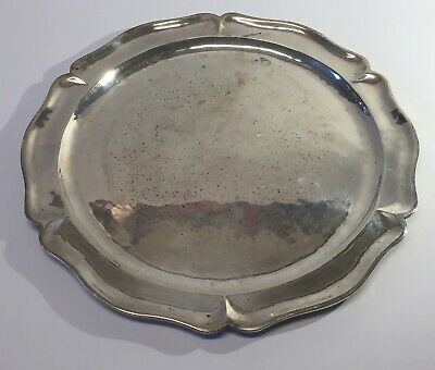 Rare Vtg Lilyan Mexico Sterling Silver  Hammered Tray 28 Oz  Silver .925