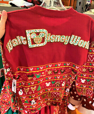 Disney Parks Christmas Snacks 2019 Ugly Sweater Spirit Jersey XS-M NWT