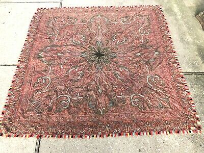 antique Hand Made paisley kashmir shawl Very Good Condition