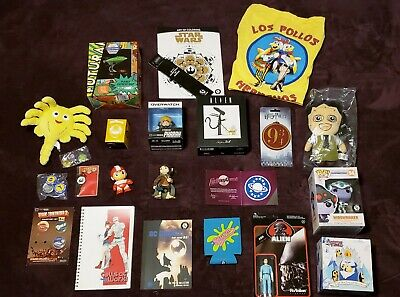 HUGE Lot Of LOOT CRATE Items Collectibles NEW - Alien Futurama DC and More!