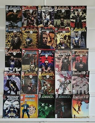 The Punisher 25 Marvel Comic Book Lot Comics Collection Set Run Box 2