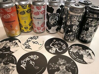 alchemist mixed pack with coaster set heady topper focal banger etc