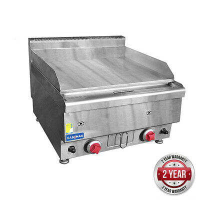 Gas Griddle Countertop 2 Burner Gasmax 400x650x475mm Grill Plate Hotplate NEW