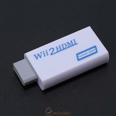 1080p Wii to HDMI Converter Mini 3.5mm Adapter Wii 2 HDMI Audio HD Video Output