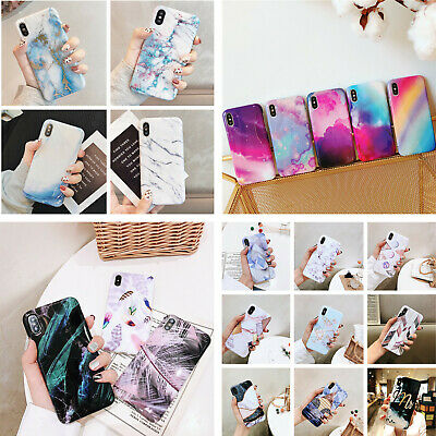 For Apple iPhone Xs Max XR 7 8 Plus Colorful IMD Silicon Rubber Soft Case Cover