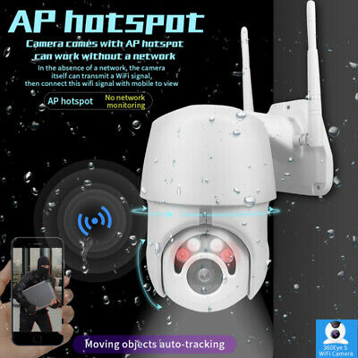 1080P WIFI IP Camera WHITE Wireless Outdoor IP66 CCTV HD Home Security IR Cam 5X