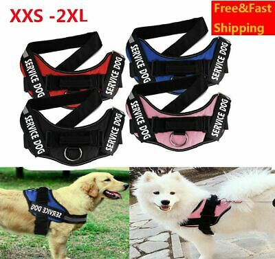 No Pull Dog Pet Vest Harness Strap Adjustable Nylon XXS XS S L XL 2XL Dogs Leash