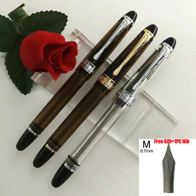 Wing Sung 699 Vaccum Filling Fountain Pen F/M Nib Or 6pcs Fuliwen M Replacement