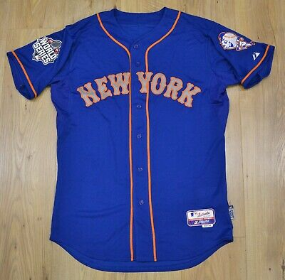 New York Mets MLB Majestic Authentic 2015 World Series blue jersey size 44 (L)